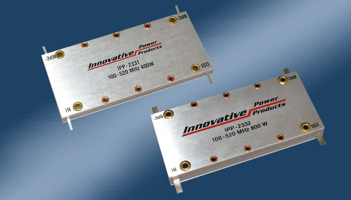 IPP-2331 and IPP-2332: New Smaller Drop-In 90 Degree Couplers 100 to 520  MHz.